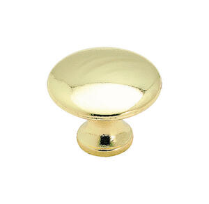 Amerock  Allison  Round  Cabinet Knob  1-3/16 in. Dia. 15/16 in. Polished Brass  1 pk