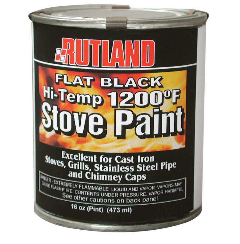 Rutland  Black  High Heat Paint  16 oz.