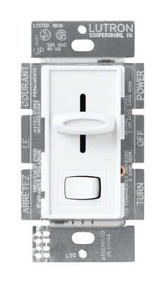 Lutron Skylark White 600 watts 3-Way Dimmer Switch 1 pk