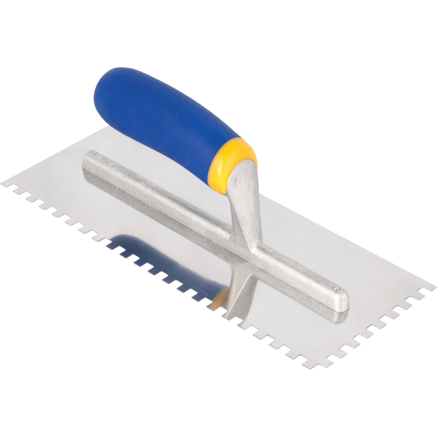 QEP  11 in. W Stainless Steel  Square Notch Trowel