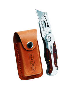 Craftsman  Folding Lockback  4 in. Folding  Utility Knife  1 pk Brown