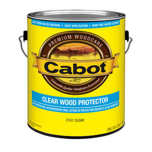 Cabot  Transparent  Clear  Water-Based  Wood Protector  1 gal.