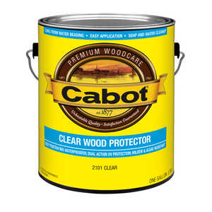 Cabot  Clear Wood Protector  Transparent  Clear  Water-Based  Wood Protector  1 gal.