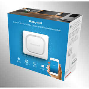Honeywell  Lyric  White  Plastic  Water Leak Alarm