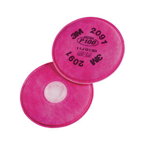 3M  P100  Sanding and Lead Paint Removal  Respirator Mask Replacement Filter  Pink  4 pc.