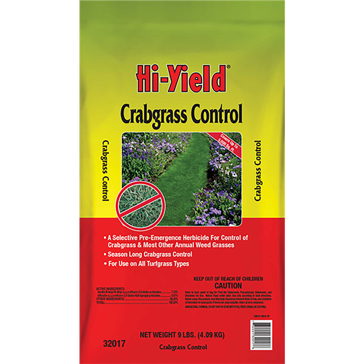 Hi-Yield  20-0-6  Crabgrass Preventer  For Turfgrass 9 lb. 5000 sq. ft.