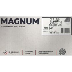 Magnum Pro 3 in. Angled Coil Nails 15 deg. Smooth Shank 4500 pk