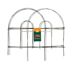 Panacea  10 ft. L x 18 in. H Metal  Green  Garden Fence