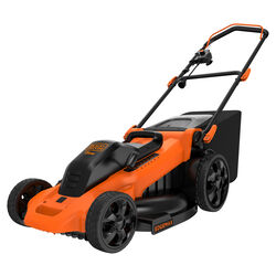 Black and Decker  EdgeMax  120 volt Electric  Manual-Push  Lawn Mower