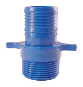 Apollo  Blue Twister  1 in. Insert   x 1 in. Dia. MPT  Acetal  Male Adapter