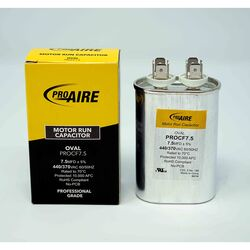 Perfect Aire  ProAire  7.5 MFD  370 volt Oval Run Capacitor