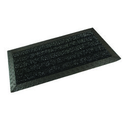 GrassWorx  Black  Polyethylene/Rubber  Nonslip Door Mat  34 in. L x 18 in. W