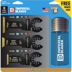 Imperial Blades One Fit 1-3/8 in. Dia. Titanium-Coated Bi-Metal Variety Pack Oscillating Saw Bla