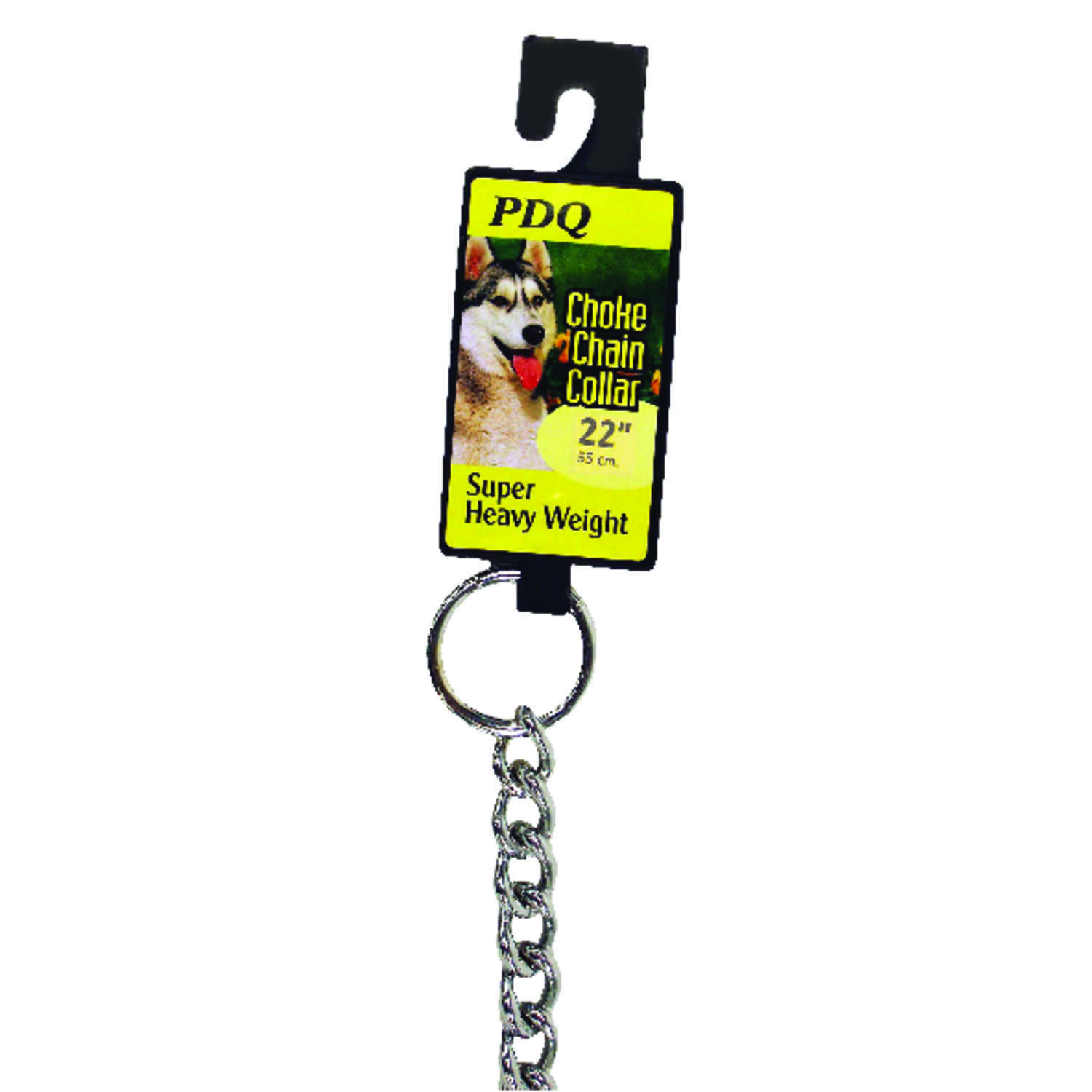 PDQ  Silver  Chain Collar  Steel  Dog  Collar  Large/X-Large