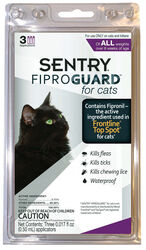 Sentry  Fiproguard  Liquid  Cat  Flea Treatment  9.8% Fibronil, 8.8% (S)-methoprene  0.017 oz.