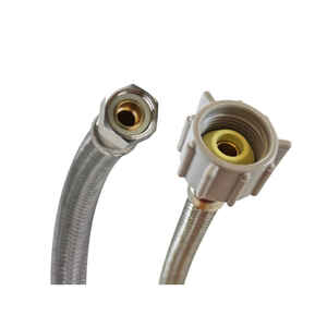 Fluidmaster  3/8 in. Compression   x 7/8 in. Dia. BC  Braided Stainless Steel  Toilet  Supply Line