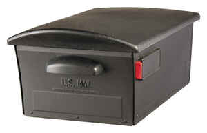 Gibraltar  Large  Plastic  Post Mounted  Black  Lockable Mailbox  9-3/8 in. H x 13 in. W x 21-3/8 in