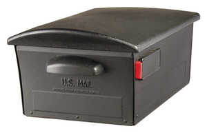 Gibraltar  Large  Plastic  Lockable Mailbox  9-3/8 in. H x 21-3/8 in. L x 21-3/8 in. L x 9-3/8 in. H