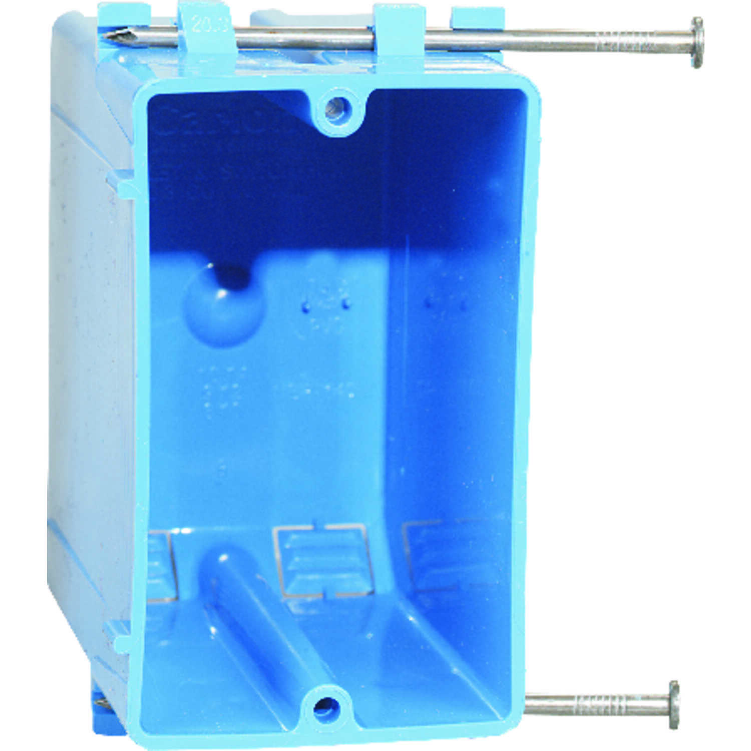 Carlon  Rectangle  1 gang Outlet Box  PVC  Blue  3-7/8 in.