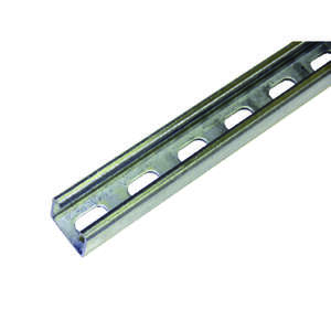 Unistrut 1-5/8 in. x 1-5/8 in. x 4 ft. 12 gauge Cord Channel Galvanized Steel