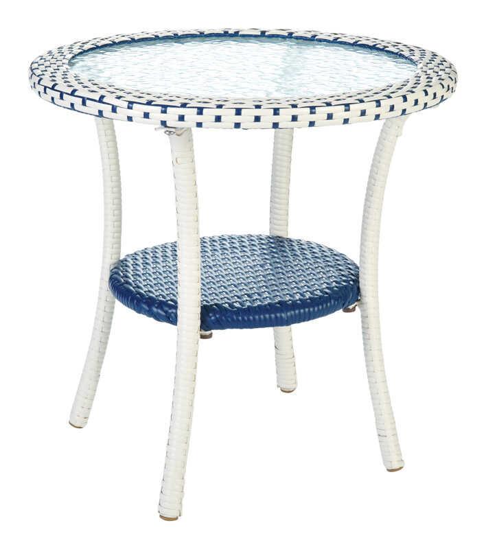 Living Accents Metropolitan Patio Furniture: Living Accents Blue Cavalia Bistro Table