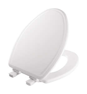 Mayfair  Slow Close Elongated  White  Molded Wood  Toilet Seat