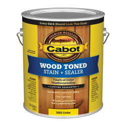 Cabot Transparent Cedar Tone Oil-Based Penetrating Oil Deck and Siding Stain 1 gal.