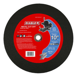 Diablo  10 in. Dia. x 5/8 in.   Aluminum Oxide  Metal Cut-Off Disc  1 pk