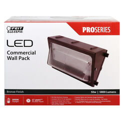 FEIT Electric  PROSERIES  50 watts 1 lights LED  Wall Pack