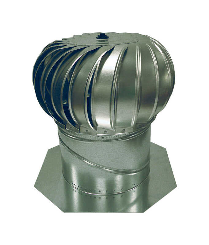 Air Vent  19.3 in. H x 19.3 in. W x 19.3 in. L Mill  Steel  Turbine and Base