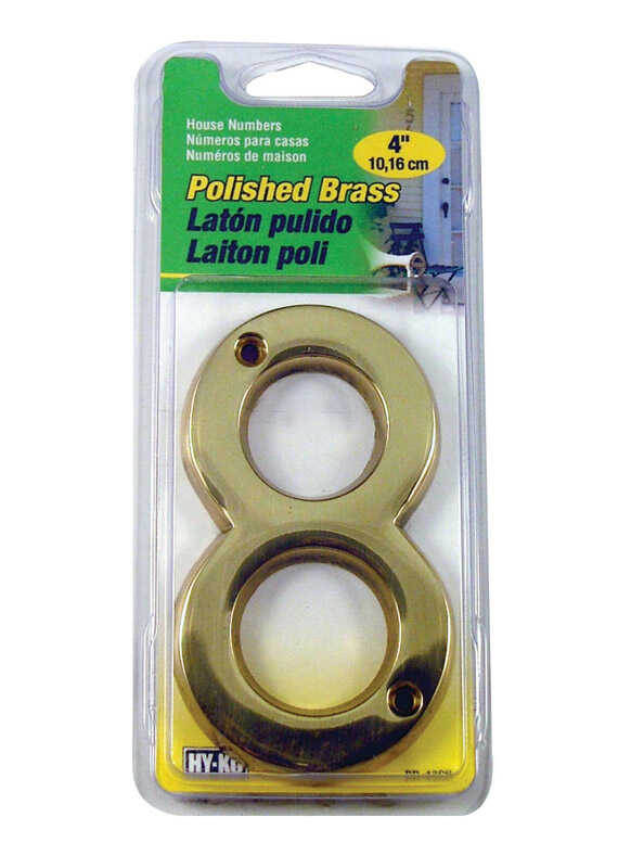 Hy-Ko  Bronze  8  Number  Nail-On  Brass  4 in.