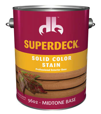 Superdeck  Solid  Midtone Base  Medium  Acrylic Latex  Wood Stain  1 gal.