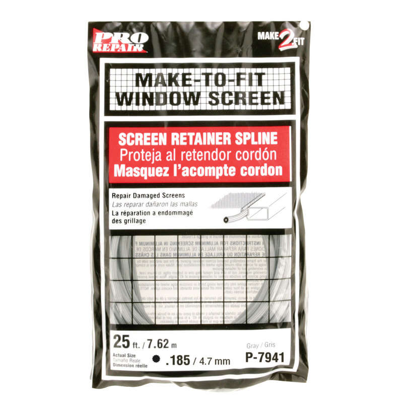 Prime-Line  0.19 in. Dia. x 300 in. L Screen Spline