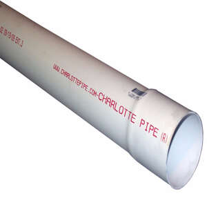 Cresline  4 in. Dia. PVC  Sewer and Drain Pipe  Bell