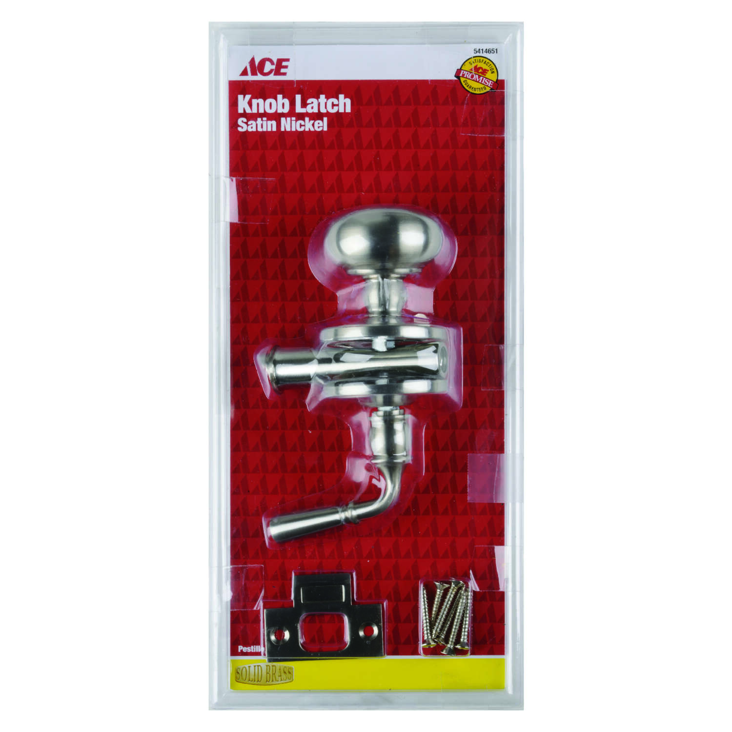 Ace  Satin Nickel  Brass  Screen Storm Door Latch  1 pk