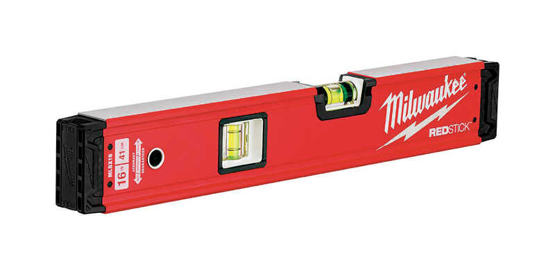Milwaukee  REDSTICK  16 in. Metal  Box  Level  2 vial