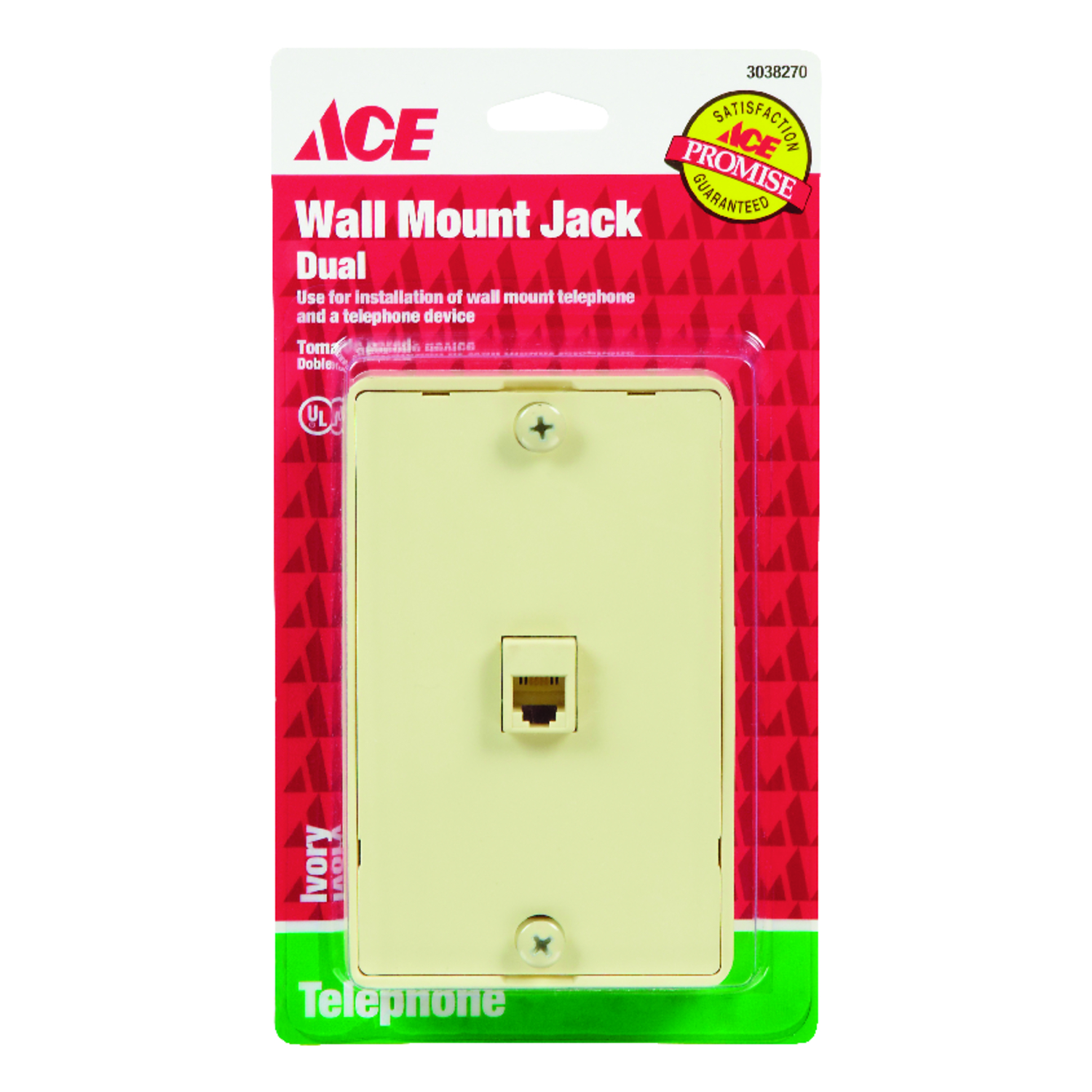 Ace 1-Jack Phone Jack Surface-Mount - Ace Hardware