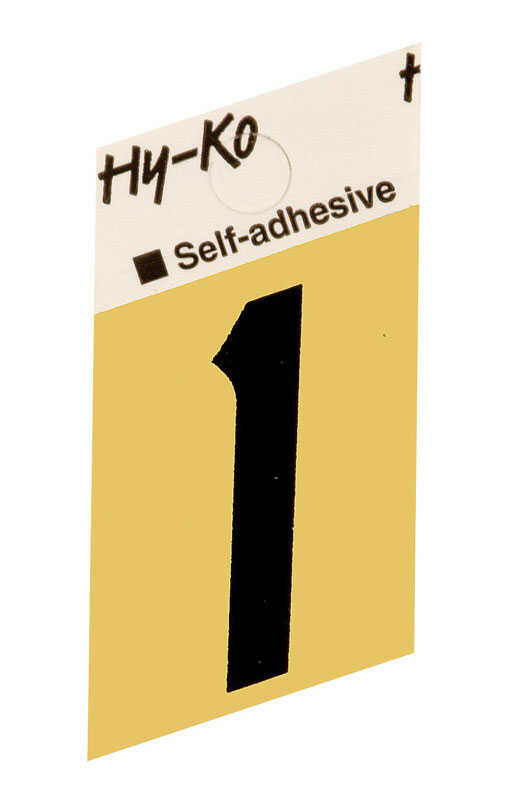 Hy-Ko  1-1/2 in. Aluminum  Black  1  Number  Self-Adhesive