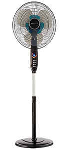 Polar-Aire  53 in. H x 16 in. Dia. 3 speed Oscillating Dual Blade Stand Fan