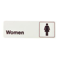 Hy-Ko Deco English White Informational Sign 3 in. H x 9 in. W
