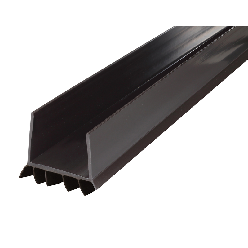 M-D Building Products  Brown  Vinyl  Door Seal  3 ft. L x 1-3/4 in.  For Door Bottom