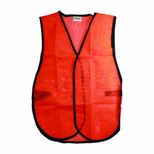 CH Hanson  Reflective Polyester Mesh  Safety Vest  Orange  One Size Fits All
