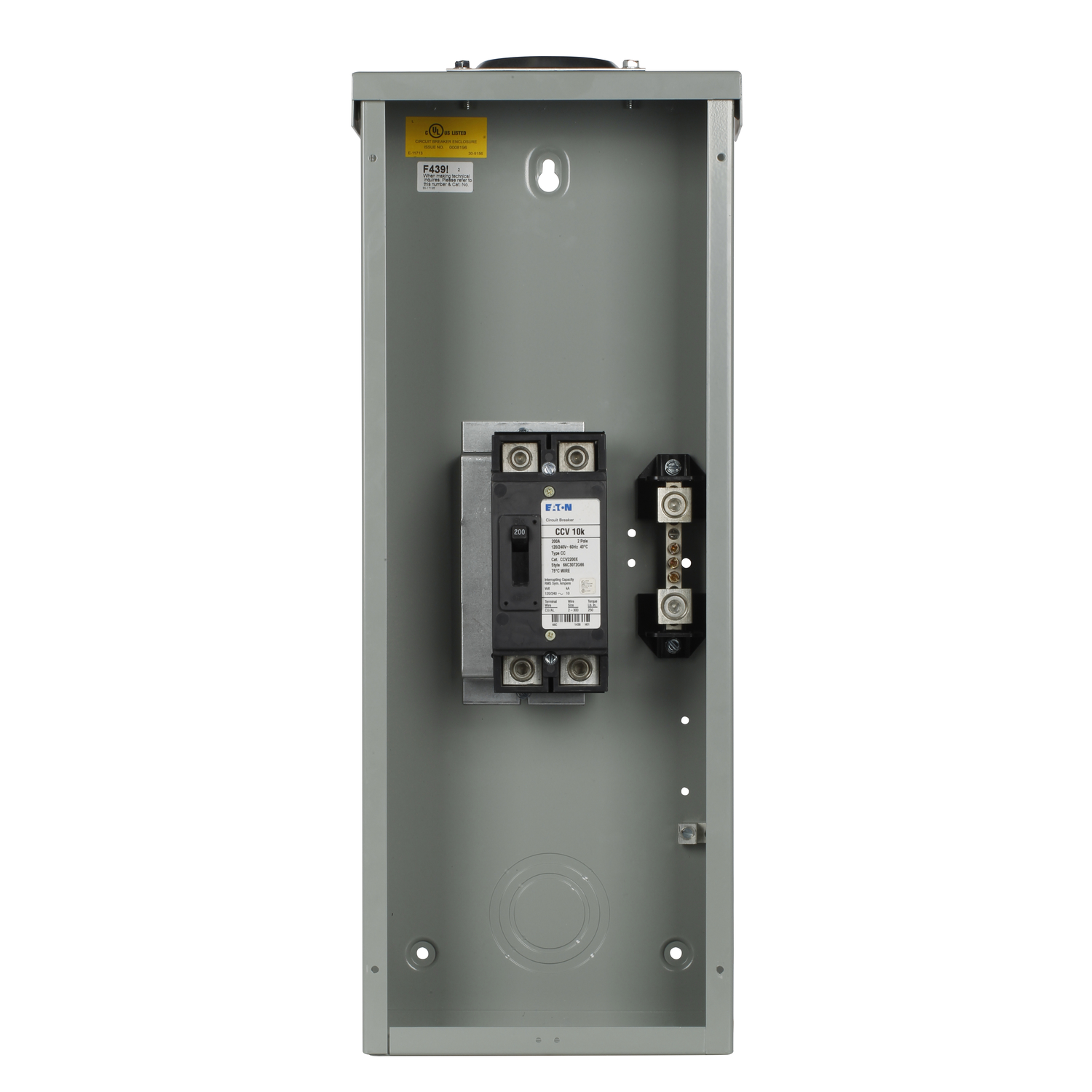 Eaton Cutler-Hammer 200 amps Plug In 2-Pole Mobile Home Breaker ...