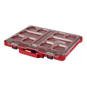 Milwaukee  PACKOUT  19.7 in. L x 16.4 in. W x 2.5 in. H Interlocking Organizer  Impact-Resistant Pol