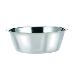 Hilo  Silver  Plain  Stainless Steel  5 qt. Pet Dish  For Dogs