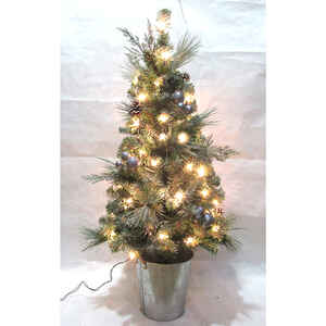 Celebrations  Home  Clear  Prelit 4 ft. PVC  Porch Tree  50 lights 208 tips