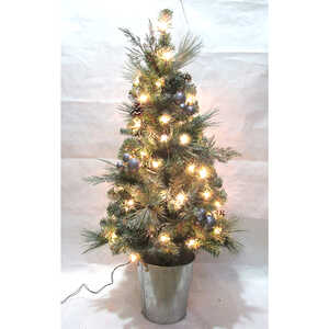 Celebrations  Home  Clear  Prelit PVC  Porch Tree  50 lights 208 tips 4 ft.