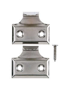 Ace  1.5  L Chrome  Universal  2 pk Hook Sash Lift  Chrome