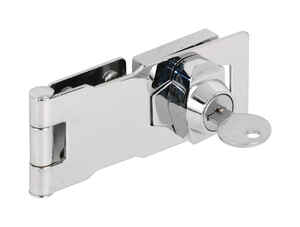 Prime-Line  Chrome-Plated  Steel  4 in. L Keyed Hasp Lock