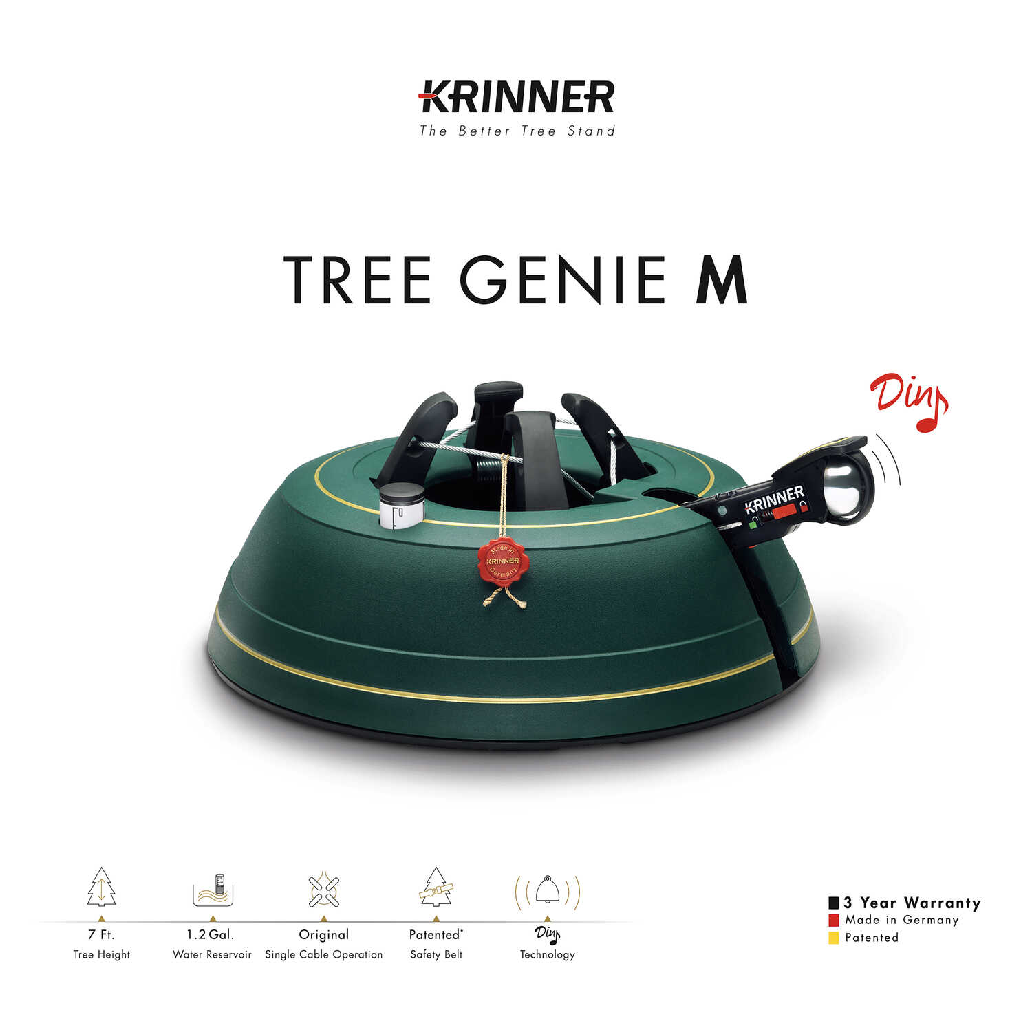 Krinner  Steel  Green  Christmas Tree Stand  7 Maximum Tree Height